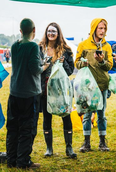 How can city events improve litter and recycling rates?